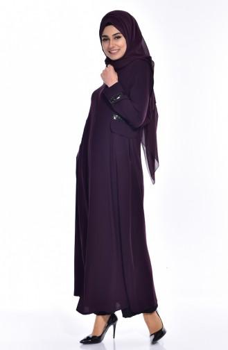 Purple Abaya 2515-02