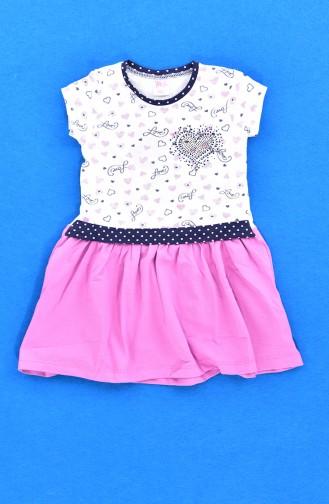 Kız Çocuk Elbise 9476-03 Mürdüm