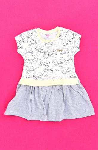 Kız Çocuk Elbise 9475-02 Sarı
