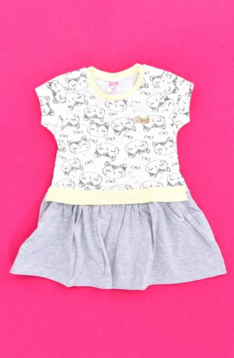 Robe Enfant Fille 9475-02 Jaune 9475-02
