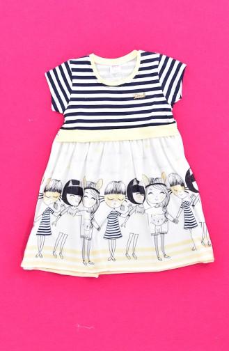 Mädchen Kleid 9501-03 Gelb 9501-03