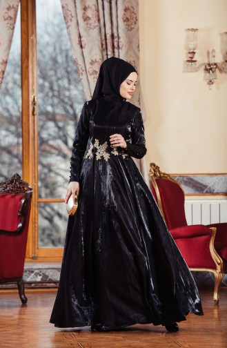 Black Islamic Clothing Evening Dress 701241-03