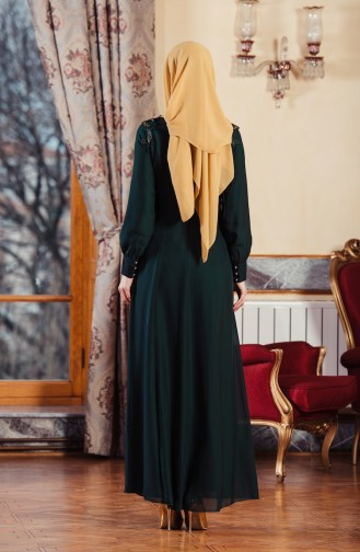 Green İslamitische Avondjurk 52634-03