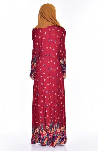 Claret red Dress 2928-03