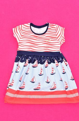 Robe Enfant Fille 9451-01 Rouge 9451-01