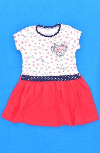 فستان أطفال بتصميم مُطبع  9476-01