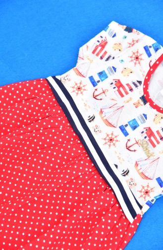 Red Baby and Kids Dress 9510-01