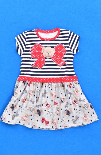 Navy Blue Baby and Kids Dress 9428-02