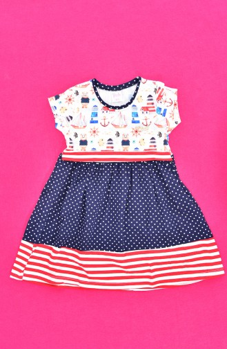 Navy Blue Baby and Kids Dress 9510-02