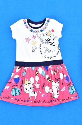 Mädchen Kleid 9458-01 Pink 9458-01