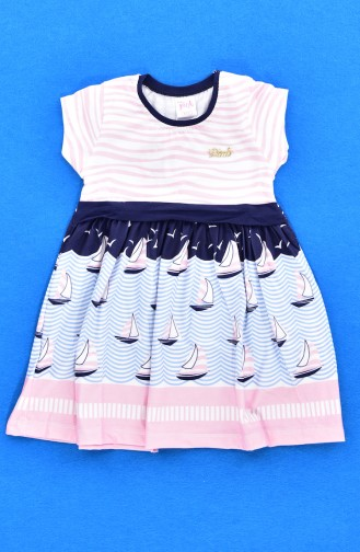 Salmon Baby and Kids Dress 9451-02
