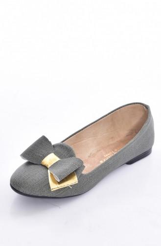 Green Woman Flat Shoe 50192-08
