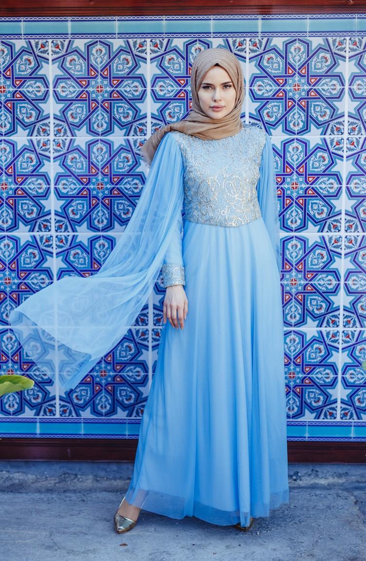 adbbb46402a30 Baby Blues İslamitische Avondjurk 3004-04 ...