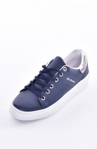 Navy Blue Sport Shoes 0778-10