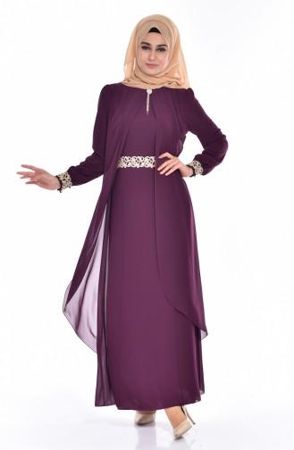 Robe Hijab FY 52221-02 Plum 52221-02