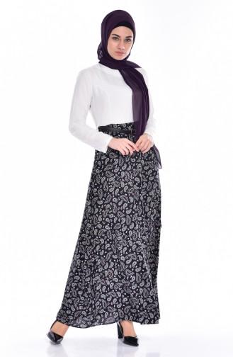 White İslamitische Jurk 5736-03