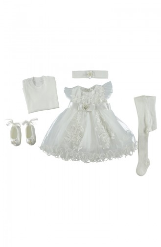 Bebetto Dress Set 5 Pisces A059-EKR light Beige 059-EKR