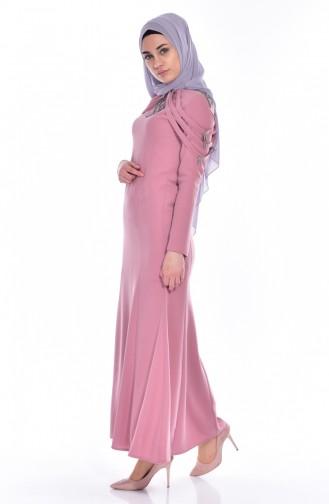 Kleid mit Apolet aus Strassstein 3384-02 Puder 3384-02