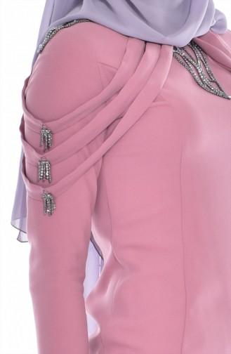 Robe Bordée de Pierre 3384-02 Poudre 3384-02