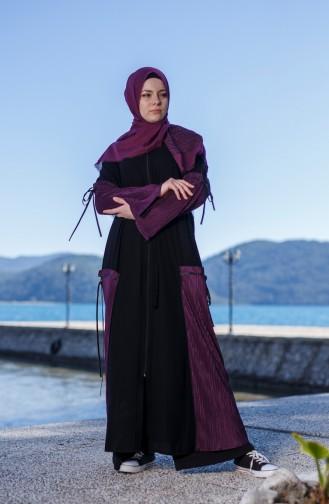 Purple Abaya 7744-01