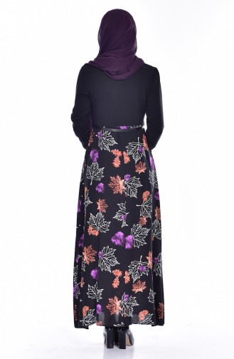Purple İslamitische Jurk 2268-02