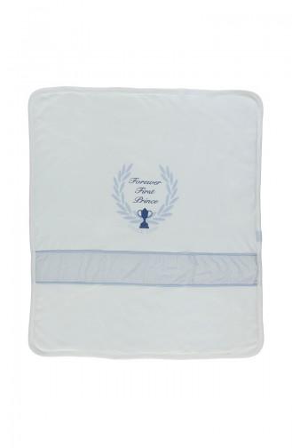 Bebetto Baby Decke mit Faser aus Gekämmte Baumwolle B543-MV Blau 543-MV