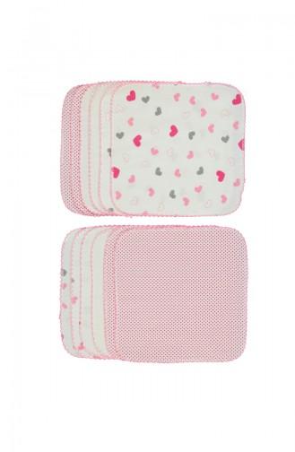 Bebetto Combed Napkin 12pcs C582-PMB Pink 582-PMB