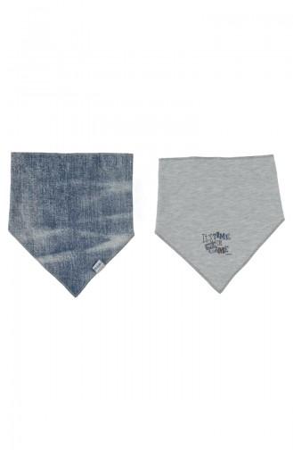 Bebetto Cotton Triangle Bib 2 Pcs C650-GRMLJ Gray Melange 650-GRMLJ