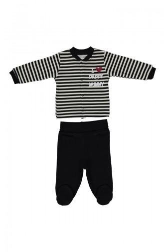 Bebetto Cotton Mini Pajamas Set F880-SYH Black 880-SYH