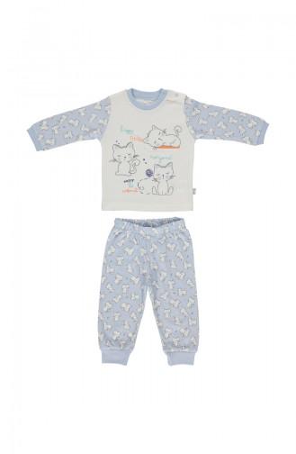 Bebetto Cotton Pajama Set F914-MV Blue 914-MV
