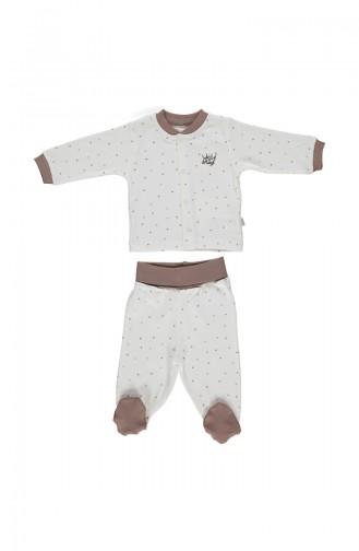 Bebetto Penye Mini Pijama Takımı F919-KHV Kahverengi 919-KHV