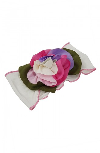 Bandana Accessoire Fleur NB52 Ecru 52