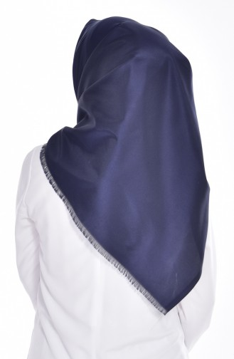 Echarpe Taffetas Simple 95111-10 Bleu Marine 10