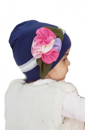 Navy Blue Hat and bandana models 64