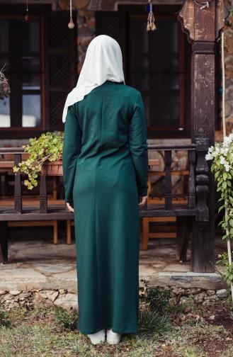 Bedrucktes Sport Kleid 8098-03 Smaragdgrün 8098-03