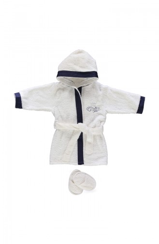 Bebetto Towel Bathrobe Set 2 H313LC-01 Navy 313LC