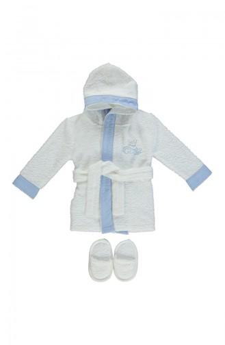 Bebetto Baby Bademantel 2er Set H313MV-01 Blau 313MV-01
