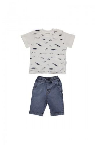 Bebetto Baby 2 Pcs Suit K1684-BYZ-01 White 1684-BYZ-01