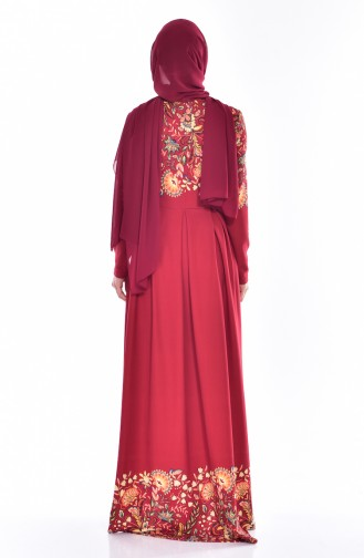 Kleid mit Schleppe 5201-02 Weinrot 5201-02