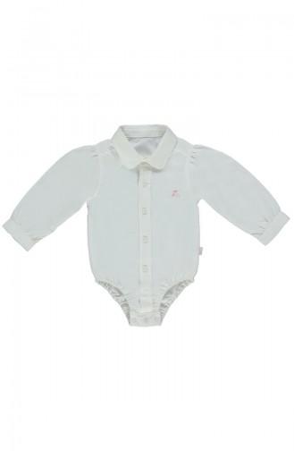 Bebetto Cotton Shirt Baby Bodysuit K1832-EKR-01 Light Beige 1832-EKR-01