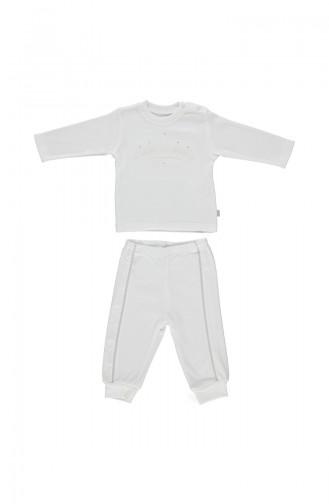 Bebetto Baby Cotton Suit F962-EKR-01 Light Beige 962-EKR-01