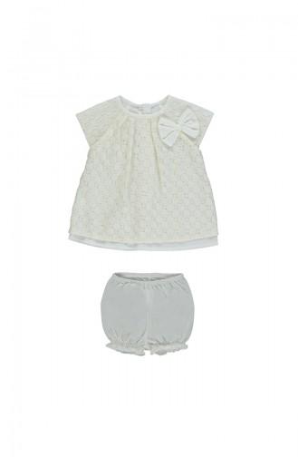 Bebetto 2pcs Dress Suit K1702-EKR-01 Light Beige 1702-EKR-01