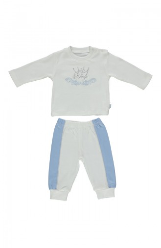 Bebetto Cotton Pajama Set F943-MV-01 Blue 943-MV-01