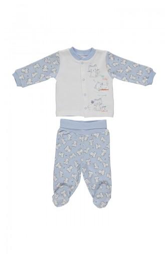 Bebetto Penye Mini Pijama Takımı F963-MV-01 Mavi 963-MV-01