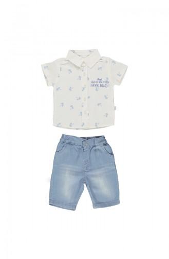 ببيتو قميص أطفال بتصميم قطن K1637-MV-01 لون أزرق 1637-MV-01