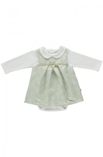 Bebetto Dokuma Elbise 2li K1848-MNT-01 Mint Yeşili 1848-MNT-01