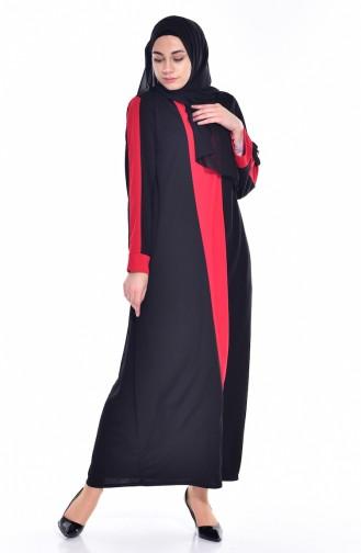 Robe Garnie 3309-03 Noir Rouge 3309-03