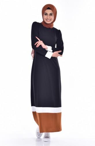 Black İslamitische Jurk 3308 -01
