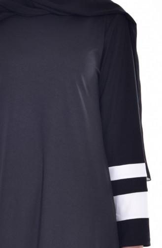 Garnili Elbise 3310-04 Siyah