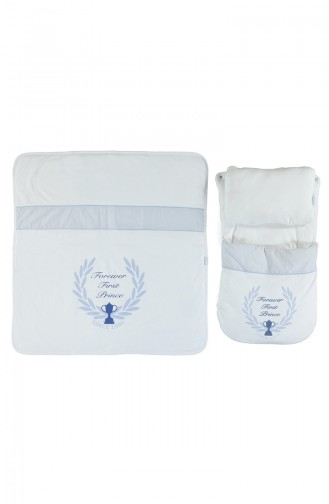 Bebetto Cotton Fiber Sleep Set 3 Pcs P326-MV Blue 326-MV